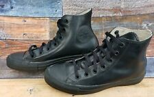 44cf373c155c Converse Chuck Taylor All Star Triple Black Rubber High Top Sneakers Size  6M 8W
