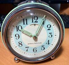 Pottery Barn KidsTable Alarm Clock Oversized Analog White Green