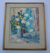 MATTISE STYLE PAINTING SIGNED KOPPEL IMPRESSIONIST COLORFUL FLORAL STILL LIFE