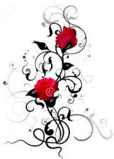 20 water slide nail art transfer  black rose design lovely design trending