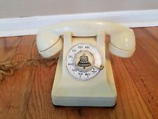 Vintage Rotary F1 Telephone - Bell System / Western Electric Bakelite Ivory1940s