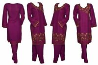 Indian Pakistani Shalwar Kameez Salwar Saree Suit Dress Wedding Designer Plum