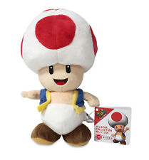 "NEW Sanei Super Mario All Star Collection AC04 Stuffed Plush Doll 7.5"" Toad"