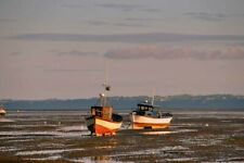 Fishing Boats Thorpe Bay Beach Southend on Sea Essex England Photograph Picture