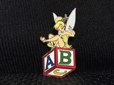 Disney Tinker Bell on Alphabet Block Pin LE 500 Tinkerbell Peter Pan Hook
