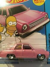 The Simpsons Family Car #56 * Pink * 2015 Hot Wheels