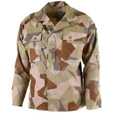 Genuine Swedish army M90 jacket Desert camo field troops lightweight shirt NEW