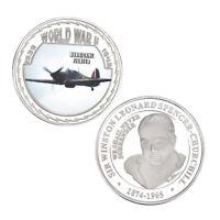 WR 1940 Battle of Britain Hurricane Fighter Silver Challenge Coin World War II 2