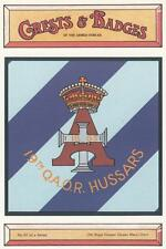 19th ROYAL HUSSARS ( QUEEN MARY'S OWN ) POSTCARD ( CRESTS AND BADGES SERIES )
