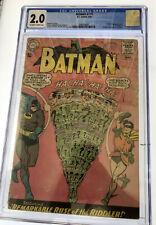 Batman #171 DC Comics CGC grade 2.0  OW/W pages 1st app Silver age Riddler 1965