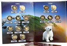 RUSSIA BI-METALLIC SOUVENIR COINS RED BOOK 5 10 50 Rubles 1991-1994 in ALBUM
