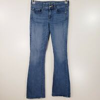 American Eagle Outfitters Kick Boot Jeans Size 4 Long Denim X Stretchy JN20