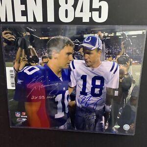 Eli Manning Peyton Manning Signed Inscibed SB MVP 16X20 Picture NFL & Steiner