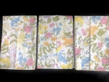 Vintage Pacific Pillow Case Lot 3 Floral Extra Strength Muslin Flowers Pastel