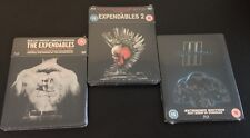 THE EXPENDABLES 1 2 3 Blu-Ray SteelBook Trilogy Zavvi HMV UK Reg B. New OOP Rare