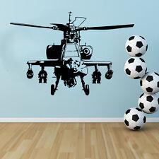 Ejército - Helicóptero Apache Decoración Pared Dormitorio Infantil