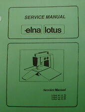 Elna Lotus Sewing Machine Service Manual Models 15--25--35