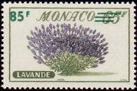 "MONACO N° 521 ""FLEURS, LAVANDE 85 F SUR 65 F"" NEUF xx TTB"