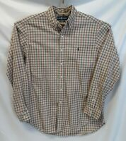 RALPH LAUREN Long Sleeve CLASSIC FIT Button-Up Shirt Plaid Checked Casual LARGE