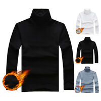 Men's Thermal High Collar Turtle Neck Pullover Long Sleeve Sweater Stretch Shirt