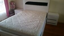 Double bed, bed side tables and mattress