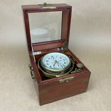 Russian Marine Chronometer Ship Clock W/ Wooden Box - Knpoba