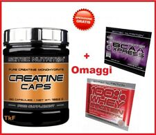 SCITEC NUTRITION Creatine 250 Caps Creatina Monoidrato in Capsule + OMAGGIO BCAA