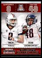 2015 PANINI CONTENDERS COLLEGIATE CONNECTIONS NICK FOLES ROB GRONKOWSKI #1