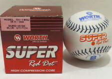 Vintage Worth Red Dot High Compression Core Softball in Box Misprint on ball