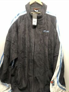NWT AND1 Men Terry Gray Zip Workout Basketball Gray Jacket 3XL $120