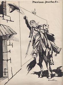 Originalzeichnung Hans Steiner Karikatur 20/ 30er Jahre Simplicissimus Mexikaner