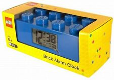 LEGO ALARM CLOCK BLUE NEW FACTORY FREE SHIPPING LIGHT WEIGHT BATTERY OPERATED