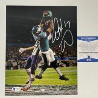 Autographed/Signed ALSHON JEFFERY Super Bowl LII Catch Eagles 8x10 Photo BAS COA