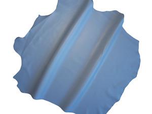 LEDER TIP 35379-S, Lederreste, 1 Lederhaut, taubenblau nappa