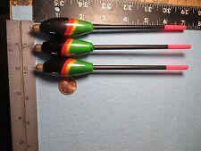 3 NEW WOOD SLIP BOBBERS/FLOATS  BARREL SWIVEL NO FREEZE UP B15