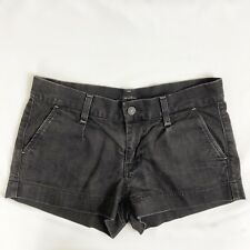 7 For All Mankind Women 28 Black Gray Mini Casual Shorts FITS 29 30