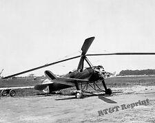 Photograph Vintage Pitcaim PAA-1 Autogyro Airplane 1931 Langley Field  8x10