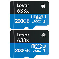 2-Pack Lexar High-Performance microSDXC 633x 200GB Class 10 UHS-I Memory Card