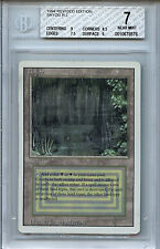 MTG Revised Dual Land Bayou BGS 7.0 NM Card Magic The Gathering WOTC 8576
