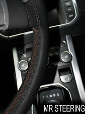 FOR STANDARD LITTLE NINE 31-33 LEATHER STEERING WHEEL COVER BROWN DOUBLE STITCH