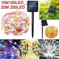 100-200 LED Solar Power Fairy Light String Lamp Party Xmas Deco Garden Outdoor B