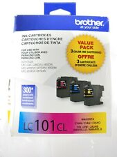 Brother LC101CL Color Ink Cartridges OEM Genuine Factory Expired 06/2019