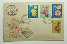1962 FDC Bulgaria #1210-13 Beautiful Set of 4 Roses Postmarked March 28 1962