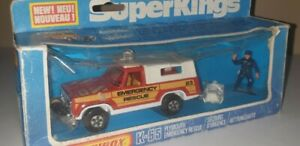 Matchbox SUPERKINGS K-65 Plymouth Emergency Rescue Truck Diecast Model Toy