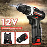 12V Lithium Cordless Drill Driver 2Gear w/ Batteries + Charger + Tool Bag Kit