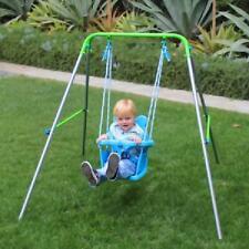 Indoor Outdoor My First Toddler Swing Adjustable Height Plastic Nursery Seat