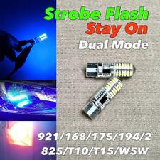 STROBE STAY Reverse Backup Light T10 T15 921 175 194 168 Blue CANBUS LED W1 J