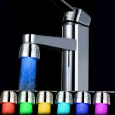 Temperature Sensor 3Color Kitchen RGB Glow Light Water Tap Shower LED Faucet