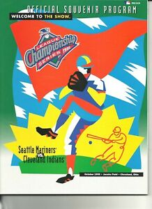 1995 American League Championship Series Program Seat Mariners Cleveland Indians