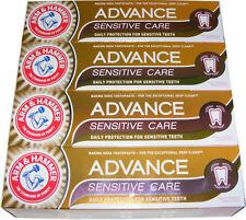 4 TUBI Arm and Hammer ADVANCE SENSITIVE CARE Dentifricio 75 ML con bicarbonato
